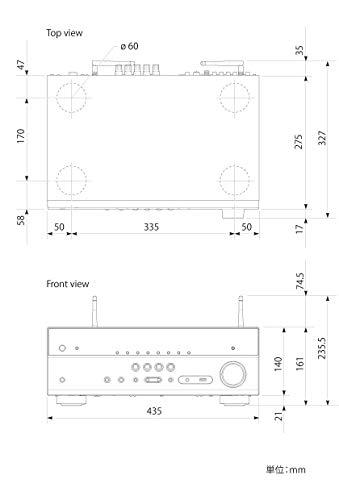 ヤマハAVレシーバーRXV585(B)7.1chDolbyAtmosDTS:XBluetoothWi-Fiネットワークオーディオハイレゾ対応ブラック
