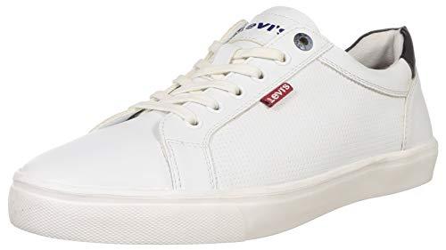 Levi's Men Aachen White+Navy Sneakers-9 UK (43 EU) (10 US) (38099-1640)