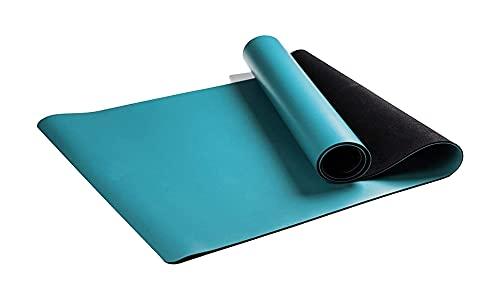 LSLS Esterilla De Yoga Alfombras de Yoga Antideslizantes de Goma 1.5mm Mat de Yoga Ultra Delgada Plegable Fitness Mat de Ejercicio portátil Esterilla Fitness (Color : Blue)