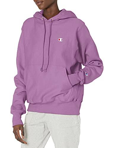 Champion womens Boyfriend Reverse Weave Po Hood Sweatshirt, Tinted Lavender, Large US