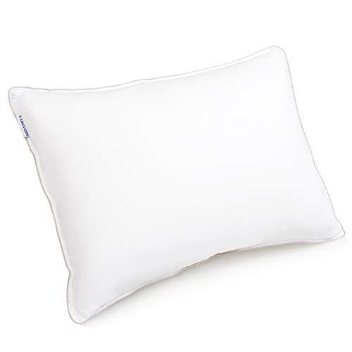 Lunvon Höheneinstellbares Memory Foam Kopfkissen aus Gelschaum Kissen, Orthopädisches Nackenstützkissen, Pillow mit Abnehmbarer Kissenbezug, 71x51cm, Weiß