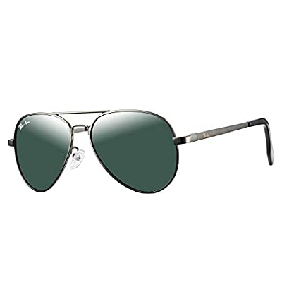 Pro Acme Small Polarized Aviator Sunglasses for Kids and Youth Age 5-18 (Gunmetal Frame/G15 Lens) from