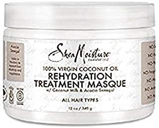 SheaMoisture 100% Virgin Coconut Oil Rehydration Masque 12oz, pack of 1
