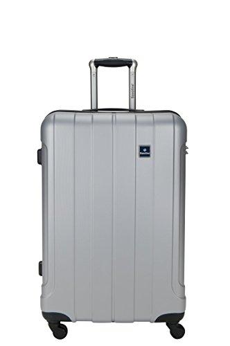 Saxoline Koffer Matrix L Silber Trolley ABS Hartschale kofferonline24-7