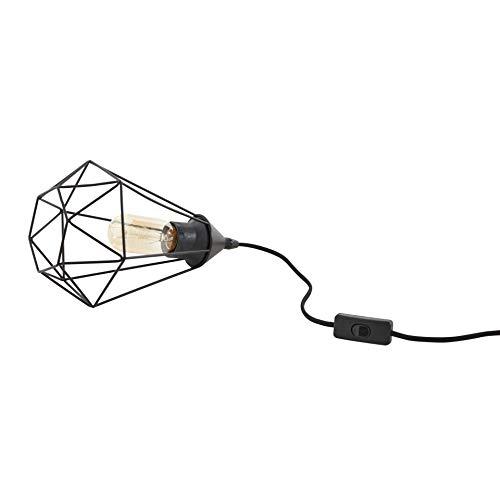 INSPIRE - Lampe aus Metall BYRON Ø 17,5 cm - 1 Leuchtmittel E27 40 W - Schwarz