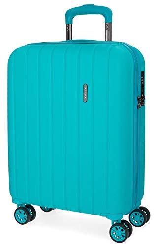 Movom Wood Maleta de cabina Azul 40x55x20 cms Rígida ABS Cierre TSA...