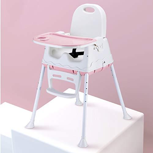 SZXJJ Portable Big Kids Enfants Table à Manger Pliable Salle à bébé Chaise réglable épaissie avec Roue Haut Bas Intérieur (Color : B)
