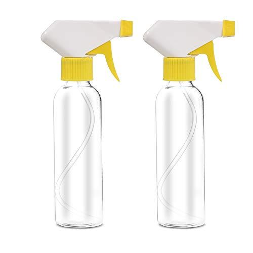 SHINEZONE アルコール スプレーボトル 250ML 霧吹き PET 噴霧器材 スプレー容器 手を洗う 虫除け 液体詰替用ボトル 手圧ボトル 極細ミスト 2個(白)