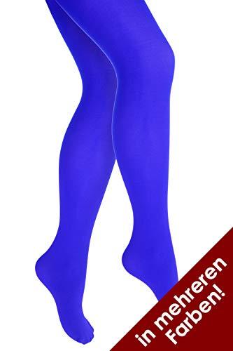 Thetru Damen-Strumpfhose in blau | Größe S/M | Blickdichte-Strumpfhosen für Karneval und Fasching (blau)