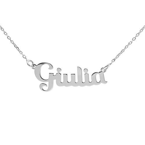 Silberne Namenskette (Giulia)
