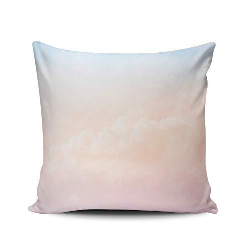 SUN DANCE Funda de almohada para sofá, decoración del hogar, paisaje otoñal, bosque con hojas rojas, 55,8 x 55,8 cm, cuadrada, funda de cojín con impresión de doble cara