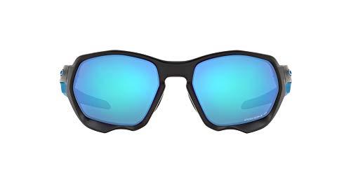 OO9019 Oakley Plazma Sunglasses, Matte Black/Prizm Sapphire Polarized, 59mm