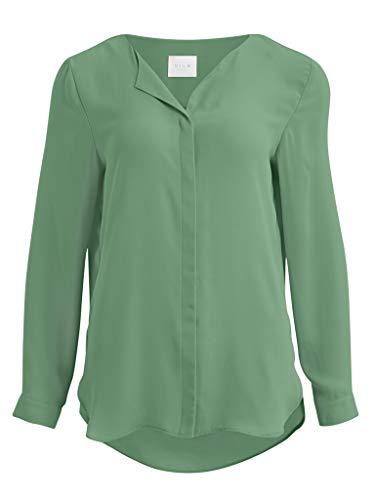 Vila Clothes Damen VILUCY L/S Shirt-NOOS Bluse, Loden Frost, S
