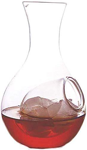 YUKM 250Ml Flasche Klar, Kalt Wake Glas Dekanterflasche Mit Eisetasche Kalt Willen Gekühlter Server Home Oder Restaurant