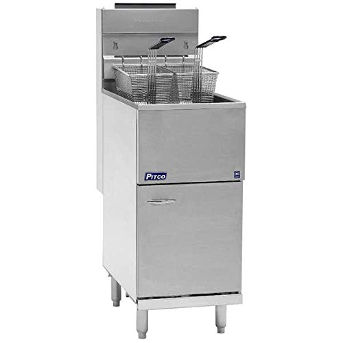 Natural Gas Pitco 40D Tube Fired Gas Floor Fryer 40-45 Pound 115,000 BTU