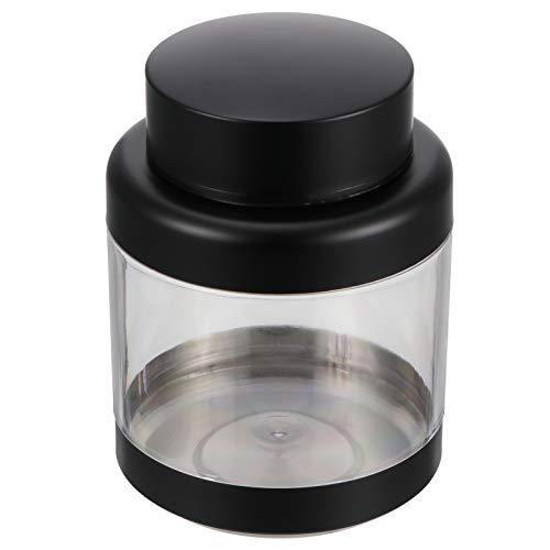 Cabilock Recipiente Hermético de Acero Inoxidable con Ventana de Vidrio Recipiente de Almacenamiento de Alimentos Organización de La Despensa a Prueba de Fugas para Servir Té Café Dulces