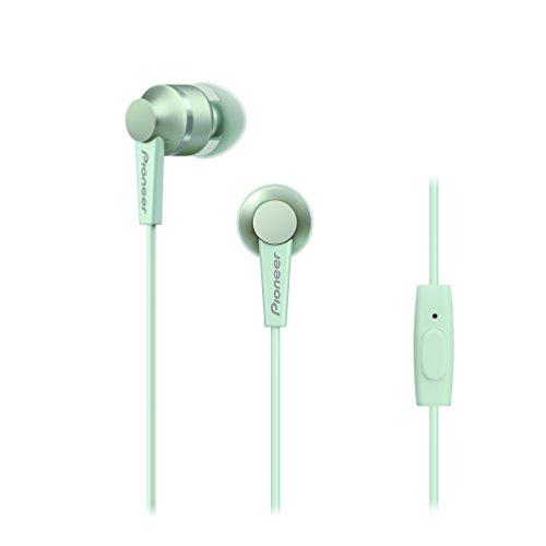Pioneer SE-C3T-GR - Auriculares con Control de telefono, Color Verde Menta