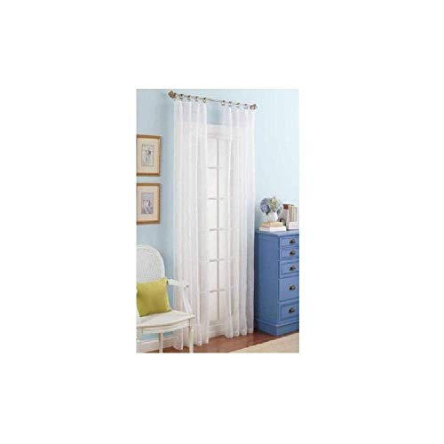 """Better Homes and Gardens White Embroidered Sheer Curtain Panel, 84""""(L) x 38""""(W), 1 Panel"""
