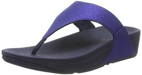 FitFlop Damen Lulu Shimmer Flache Sandale, Blue (Midnight Navy 399), 38 EU