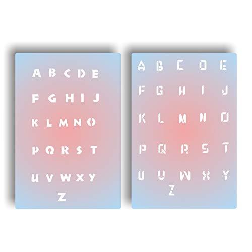 Sjabloon Airbrush Nailart - Mylar sjabloon letters lettertypen alfabet
