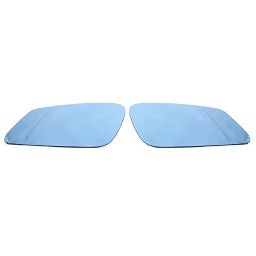 KIMISS 1 Paar Weitwinkel Rückspiegel, HD Spiegel Links und rechts, beheiztes Seitenspiegelglas für 5er Serie F07 F10 F11 6er Serie F06 F12 F13 7er Serie F01 F02 F04, Blau, 51167251583/51167251584