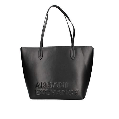 ARMANI EXCHANGE 942575-9A067-00022 Bolso de Mano Mujeres Negro - única - Bolso para Llevar al Hombro