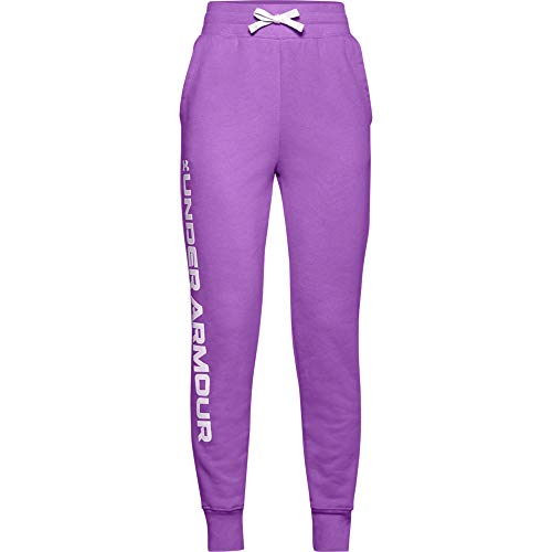 Under Armour Girls' Rival Fleece Joggers , Exotic Bloom (568)/Crystal Lilac , Youth Large