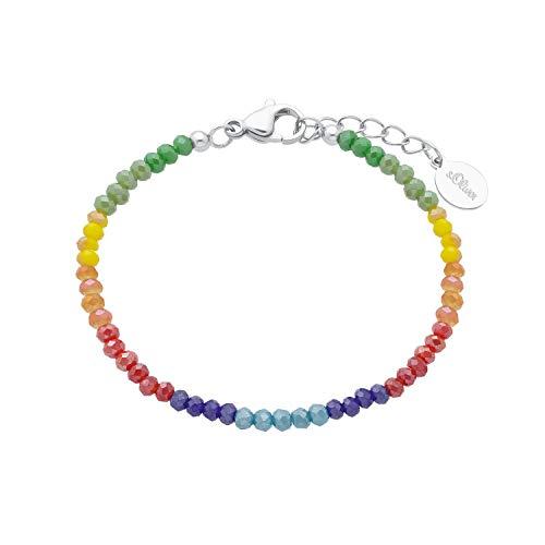 s.Oliver Armkette für Mädchen, Edelstahl, 14+2 cm