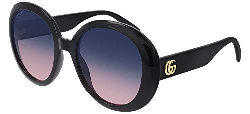 Gucci Gafas de sol GG0712S 002 Gafas de sol mujer color Negro azul tamaño de lente 55 mm