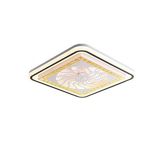 DULG Ventilador de techo con iluminación Ventilador LED Luz de techo Lámpara de techo Regulable con control remoto Ventilador silencioso sin aspas Ventilador de lámpara Ventiladores de techo invisible