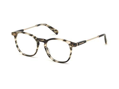 DSQUARED2 Gafas anteojos DQ5280 020 marco gris de plástico del tamaño de 49 mm de gafas de sol unisex
