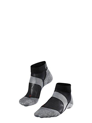 FALKE Unisex Socken BC6 Racing, Rennradsocken für Damen und Herren, Radsportsocken aus Funktionsfaser, 1 er Pack, Schwarz (Black-Mix 3010), Größe: 44-45
