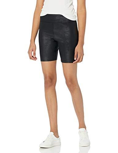 Marca Amazon - Jackie Short de Ciclista Ajustado de Cuero Sintético por The Drop