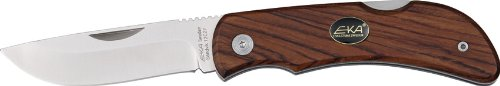 EKA Swede Knives 605604 Swede 8 Lockback Knife with Brown Rich Grain Wood Handles