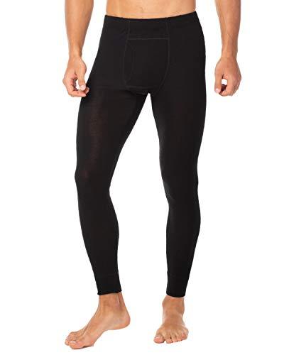 LAPASA Men's 100% Merino Wool Thermal Underwear Pants Long John Leggings Base Layer Bottom M30 (Small, Black)