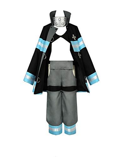 WOSHOW Anime Fire Force Kotatsu Tamaki Cosplay Costume Halloween Costume Custom Made (Famel XS)