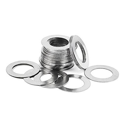 100 piezas de acero inoxidable arandela plana junta ultrafina cuña delgada M9 M10 M11 M12 M13-12x18x1