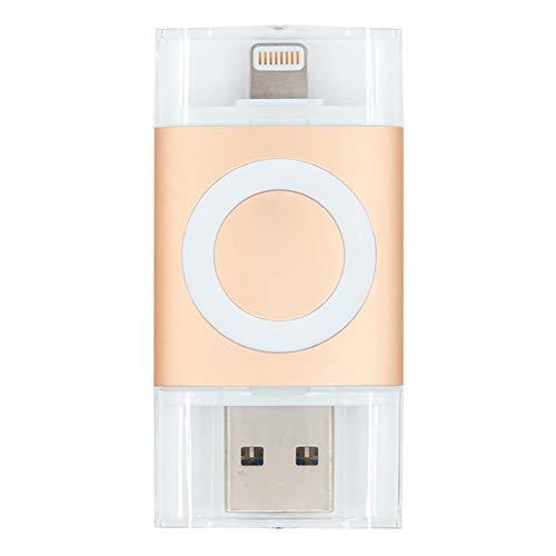 Op Flash Drive USB-stick 64G USB 3.0 mobiele telefoon U schijf voor iPhone Compatibel met meerdere formaten van File Plug and Play zonder Mfi Jailbreak certificering