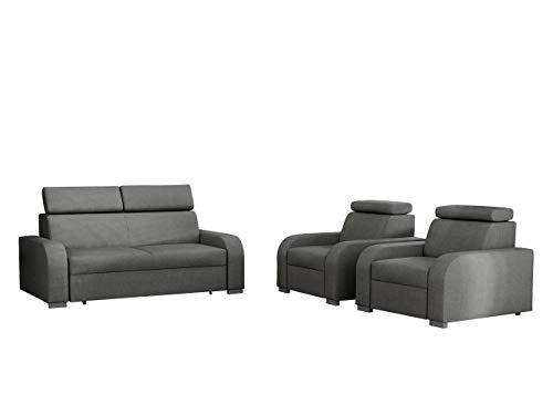 Mirjan24 Sofagarnitur Apollo 3+1+1, Sofa + Zwei Sessel, Couch, Polstersofa, Fernsehsessel, Polstergarnitur Couchgarnitur Sessel, Sofa, Polstersessel (Crown...