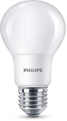 Philips 8718696577257 A+, LED-Leuchtmittel, Plastik, 7.5 W, E27, matt weiß, 6 x 6 x 11 cm