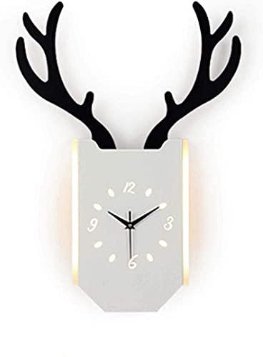 ZGYZ Lámpara de Pared LED Reloj Interior Moderno Lámpara de Pared Diseño Creativo Lámpara de Pared Colgante Blanco cálido 18W Lámpara de Noche Fondo de Pared