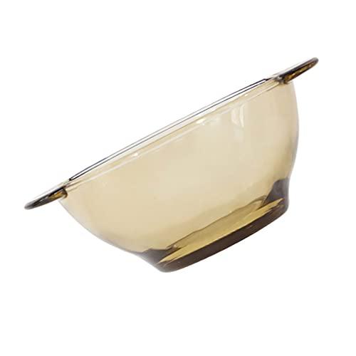 DOITOOL Cuencos para Ensaladas Cuencos de Vidrio para Mezclar Cuencos para Sopa Transparentes Cuencos para Frutas Y Verduras con Doble Asa para Preparar La Cocina Pasta de Frutas