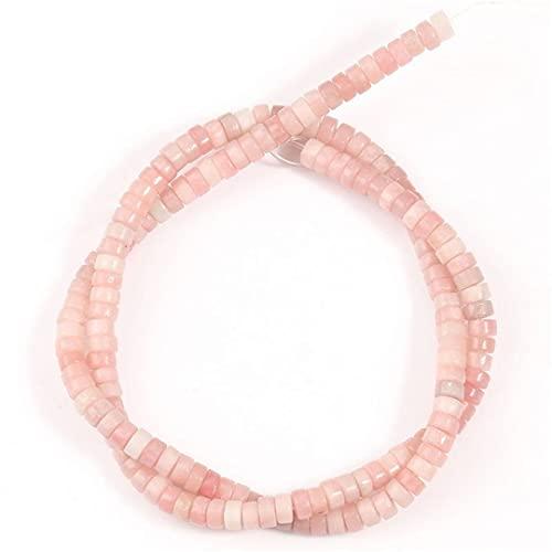 HUKGD Cuentas espaciadoras Redondas de sedimento de mar Turquesa Colorido de Piedra Natural para Hacer Joyas Collar de Pulsera Hecho a Mano DIY 2 * 4 Mm 15 Pulgadas Pink Crystal