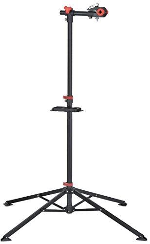 P4B Montageständer Reparatur Stahl-Montage-Ständer für Fahrräder E-Bike bis 30 kg Ständer mit Stativ Profi Reperatur-Ständer stabil mit Werkzeug-Ablage magnetisch 360°-4-beinig klappbar