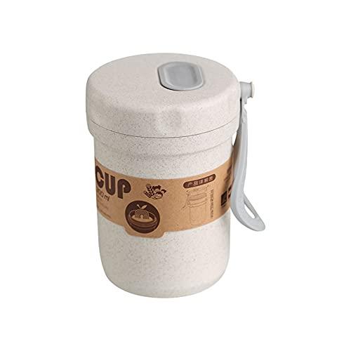 Fiambreras Para Niños 300 ml Caja de sopa sellada Fugas a prueba de fugas Lunchbox Ecoamiliares Accesorios Redondos Comida Comida Prepare Bento Box Microondavable Almuerzo Cajas ( Color : Beige )