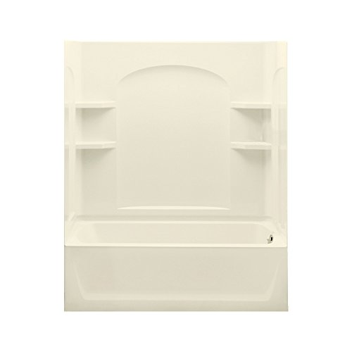 STERLING 71220126-96 Ensemble Bath Tub and Shower Kit, 60-Inch x 32-Inch x 74-Inch, Biscuit -  Sterling Plumbing