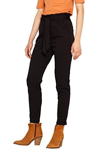 ESPRIT Damen 089EE1B055 Hose, Schwarz (Black 001), W/L30(Herstellergröße: 36/30)