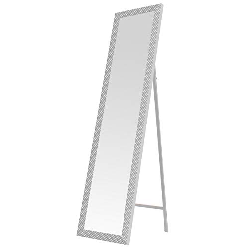 Espejo de pie Blanco Moderno de plástico de 37x157 cm - LOLAhome
