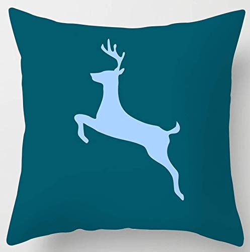 JONJUMP 45 x 45 cm, funda de almohada para cojín de color azul turquesa