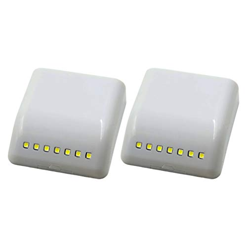 DOITOOL 2Pcs Mini Drawer Lights LED Sensor Cabinet Lights Motion Sensor Light Battery Operated for Indoor Cupboard Wardrobe Kitchen Stairs (7LED without Battery)